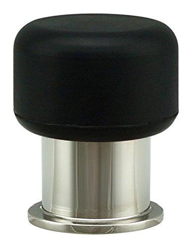 (INOX DSIX05-32 Floor Mount or Wall Mount Door Stop, Polished Stainless Steel)