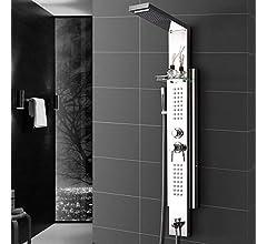 KaO0YaN-Shower Mampara De Ducha Multifunción Acero Inoxidable Ducha Suspendida Instalación Vidrio Templado Set De Ducha Portátil De Baño, Dibujo Columna Ducha: Amazon.es: Bricolaje y herramientas