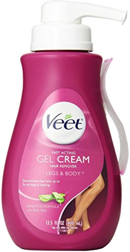 VEET Hair Removal Gel Cream Sensitive Formula 13.50 oz (Pack of 5)