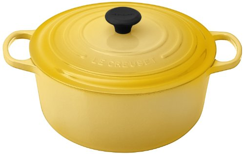 Le Creuset Signature Soleil Yellow Enameled Cast Iron Round