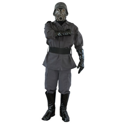 Chemical Warfare Military Complete Adult Costume with Mask -