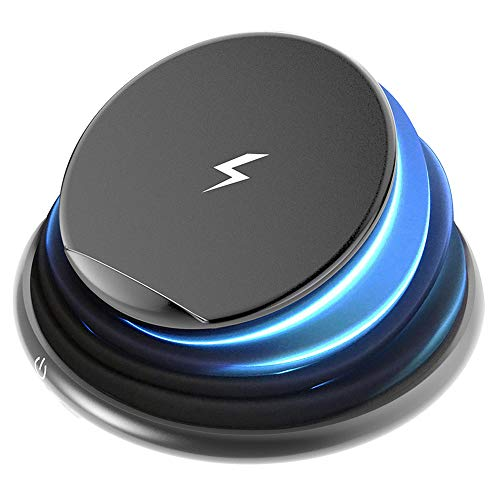 Wireless Charger, Niukamo Qi-Certified Wireless Charging Foldable Compressed Color Changing Lamp Led Light Compatible iPhone Xs Max/XS/XR/X/8/8 Plus, Galaxy S9/S9+/S8/S8+/Note 8 All Qi-Enabled Phones