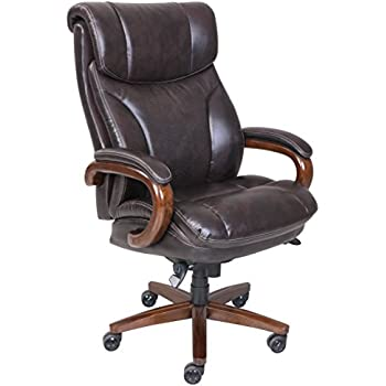 amazon com thomasville bonded leather high back chair brown
