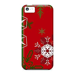 New Customized Design Red Green Background For Iphone 5c Cases Comfortable For Lovers And Friends For Christmas Gifts