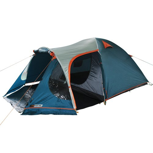 NTK INDY GT 4 to 5 Person 12.2 by 8 Foot Outdoor Dome Family Camping Tent 100% Waterproof 2500mm, European Design, Easy Assembly, Durable Fabric Full Coverage Rainfly - Micro Mosquito Mesh. by NTK