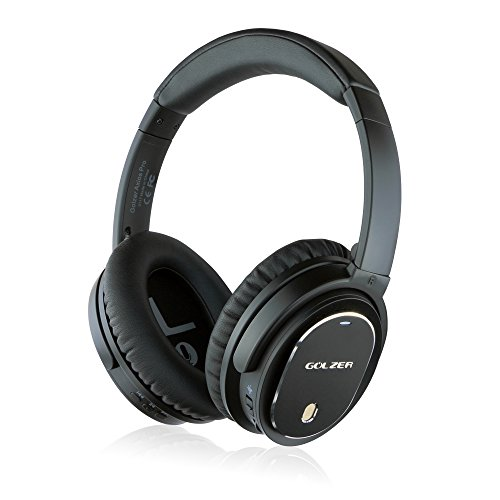 Golzer Axios Pro Wireless Bluetooth Headphones with Active Noise Cancelling, Headphones-to-Heaphones Audio Sharing (ShareMe), Internal and Detachable External Mic, Detachable Wired -