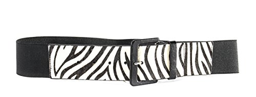 lodis-accessories-zebra-patterned-elastic-belt-womens-black-white-one-size