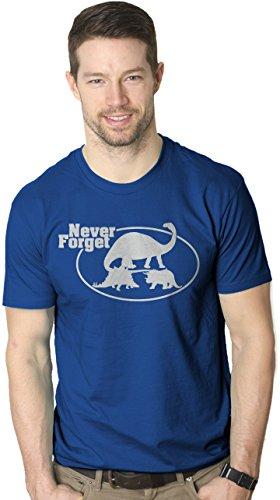 Crazy Dog TShirts - Never Forget Dinosaurs Funny T Shirt Jurassic Dino Trex Brontosaurus Tees - Divertente Uomo Maglietta
