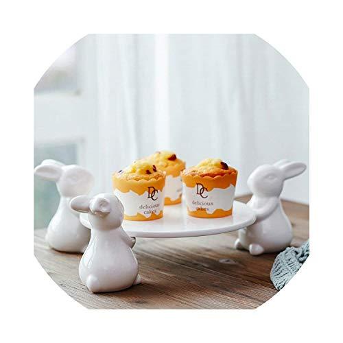 Tray Decorative Pottery Bunny Portrait Gift And Craft Ornament For Cigarette,Three Rabbits