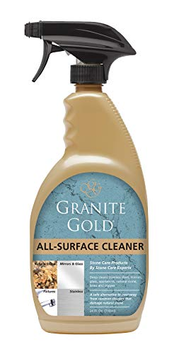 Granite Gold All-Surface Cleaner Spray - Household Cleaning For Stainless Steel, Glass, Granite, Quartz, Marble Surfaces - 24 Ounces