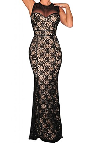 Dearlovers Women Sleeveless Lace Evening Mesh Maxi Party ...