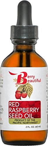 Red Raspberry Seed Oil - 2 Fl Oz (60 mL) in Glass Bottle w/ Dropper - Cold Pressed by Berry Beautiful from locally grown Raspberries - 100% Pure & Unrefined