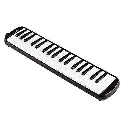 Swan 37 Keys Piano Melodica Musical Instrument with Carrying Case,Black (Musical Key)