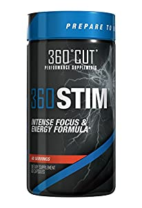 360CUT 360STIM, Maximum Strength Concentration/Focus and Energy Formula, 60 Servings