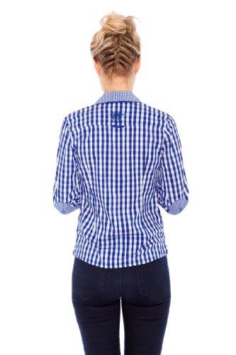 Krüger Madl 34185 - Camisa Mujer Multicolor (blau 8)