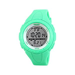 Reloj de pulsera de iWatch, sumergible a 50 m, correa de silicona, reloj digital con visualización LED, alarma, calendario, cronómetro y reloj
