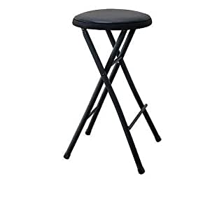 Amazon Com Folding Stool Black Lightweight Small Space