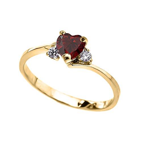 10k Gold Birthstone Ring - 5