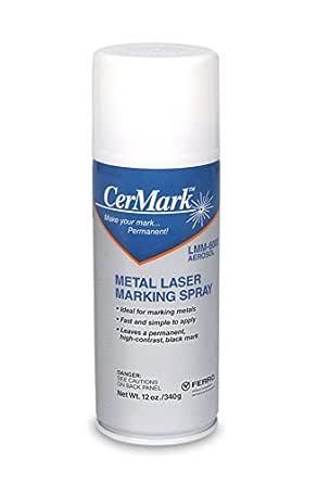 Spotted Dog LMM-6000 CerMark Black Laser Marking Technology for Metals, 12oz Aerosol