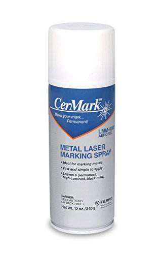CerMark LMM-6000 Black Laser Marking Technology for Metals (12oz Aerosol) by Spotted Dog Company