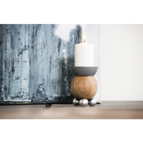 Sagaform Scandinavian Candle Holder Oak and Metal