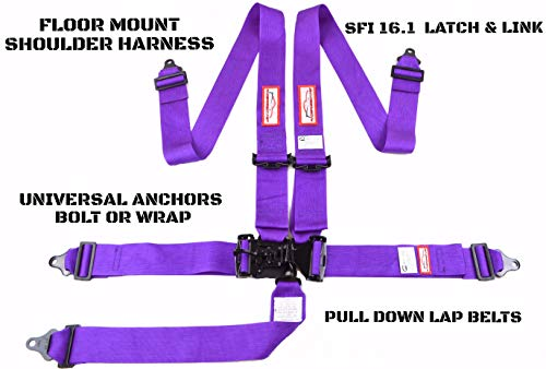 - Racerdirect.net Purple Racing Harness Latch & Link 5 Point Floor Mount SFI 16.1