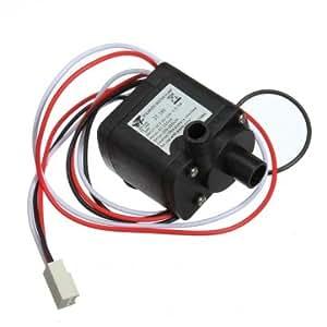 Tanzimarket - DC de alta calidad 12V 6W 3 pines del conector de la bomba sin escobillas para Refrigeración PC Agua