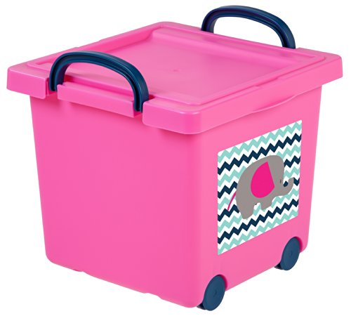 IRIS Toy Storage Box Pink