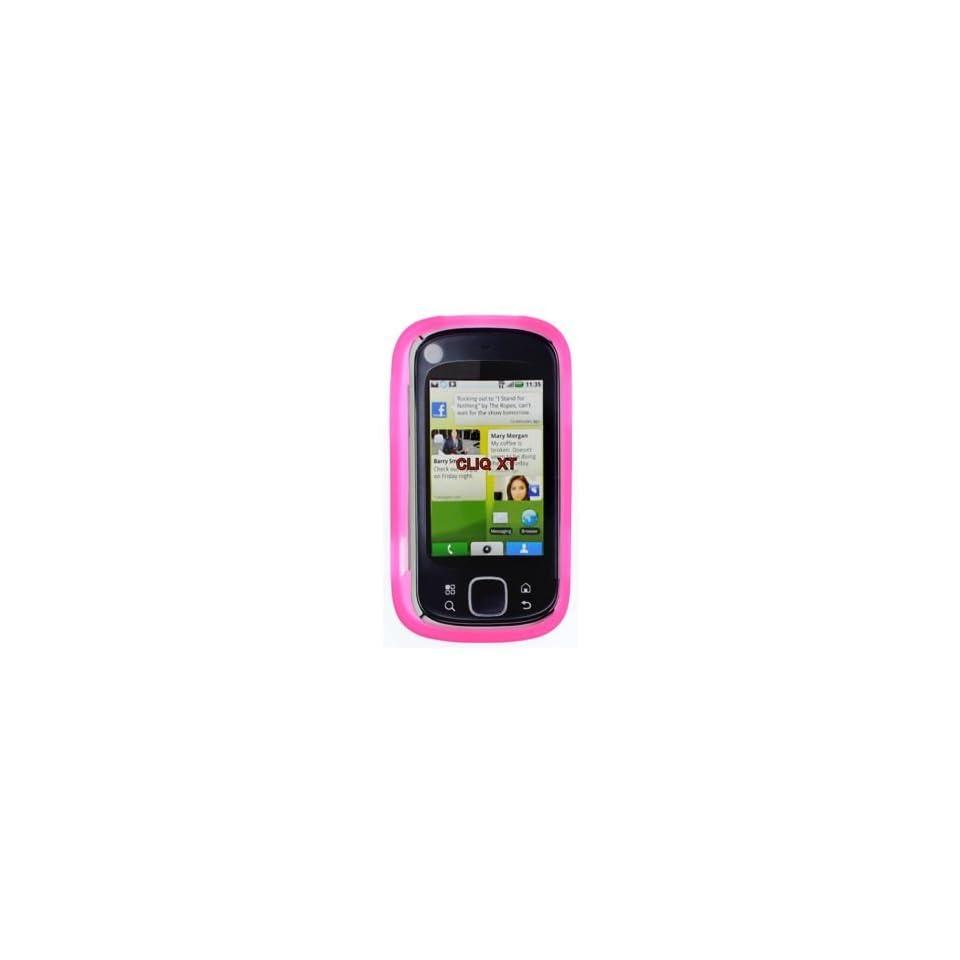Motorola CLIQ XT/Quench MB501 Trans. Hot Pink Silicon Skin Case