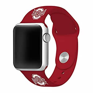 Ohio State Buckeyes 38mm Silicone Sport Band fits Apple Watch - BAND ONLY