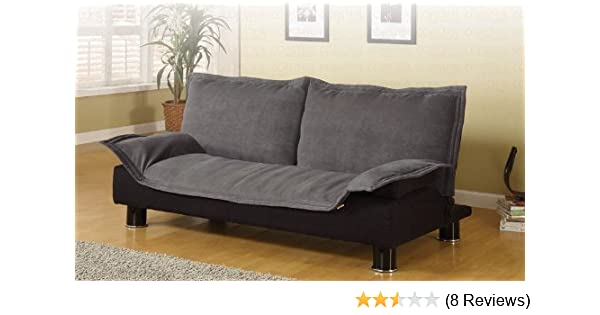 Convertible Sofa Bed Dark Grey