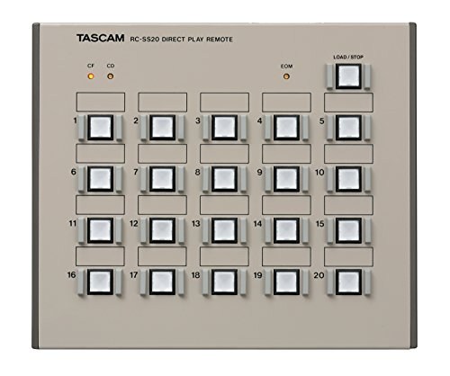 Tascam RC-SS20 Direct Play Remote for Solid State Recorders by Tascam