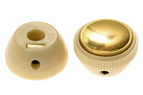 Teacup Knob - Zamm Pair of Hofner Reissue Tea Cup Knobs Fits Icon Ignition CT Series Beatle Bass