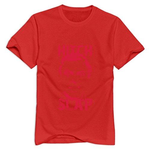 - Xuruw Man's Hitch Slap Print T-Shirt Red Size M