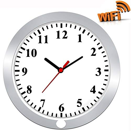 Hidden Camera in Wall Clock TenGong Spy Wall Clock WiFi Hidden Cameras 1080P Video Recorder Wireless IP Camera for Indoor Home Security Monitoring Nanny Cam with Motion ()