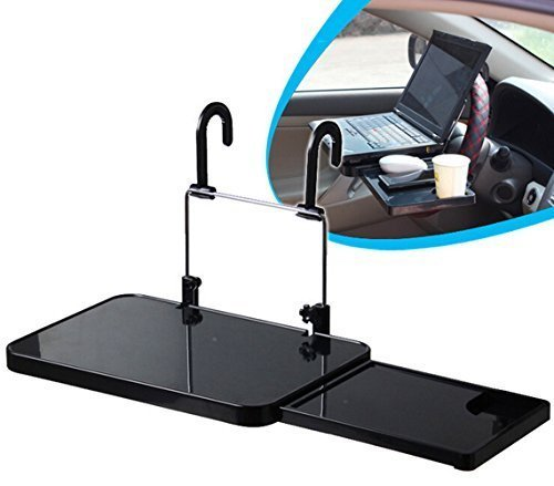 Zonstyle NEW Multi-functional Car Vehicle Seat Portable Foldable Car Seat Back Pc Mount Tray Black Table Laptop Notebook Desk Table Car Dining Food Drink Desk Cup Holder