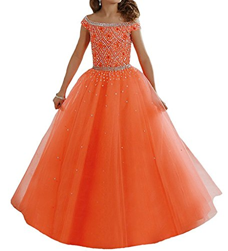 orange pageant dresses - 9
