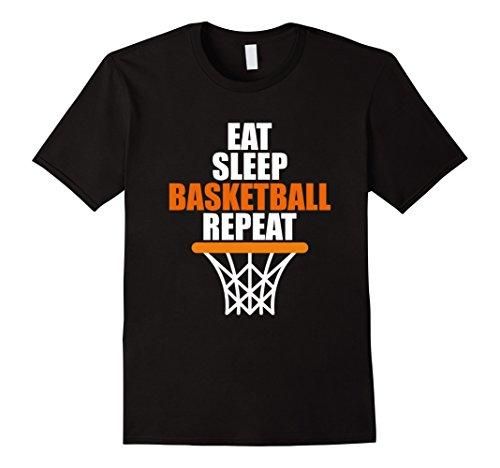 Mens Eat. Sleep. Basketball. Repeat. T shirt for basketball fans Medium (Basketball Fan)