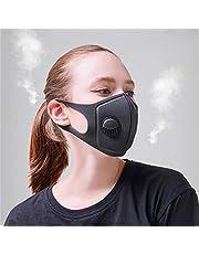 Froomer Máscara Facial, máscara de carbón Activado Anti PM2.5 Máscaras de Filtro con válvula de respiración 3.0 para Ciclismo MTB