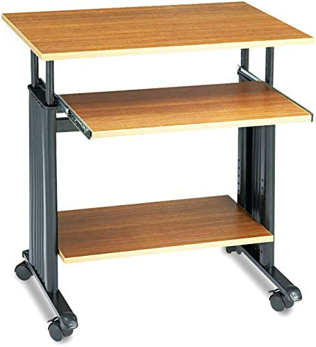 Safco Muv Adjustable-Height Desk, Medium Oak