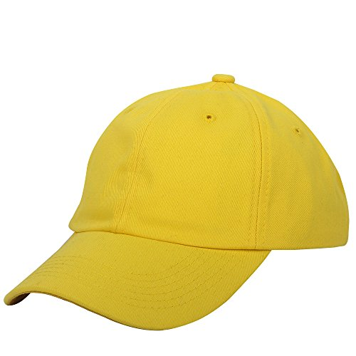 Cotton Baseball Cap Adjustable Plain Cap. Polo Style Low Profile (Unconstructed hat) ()