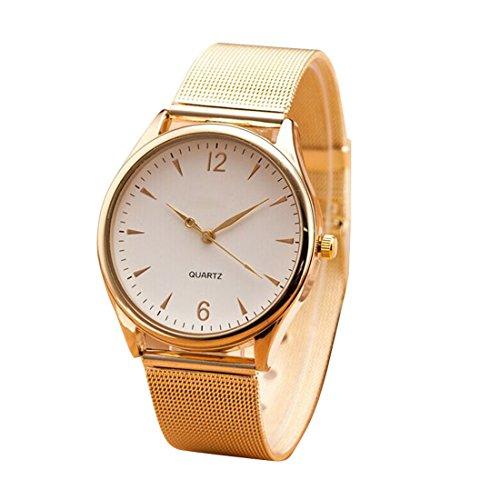 SMTSMT Women's Classic Stainless Wrist Watch-Gold