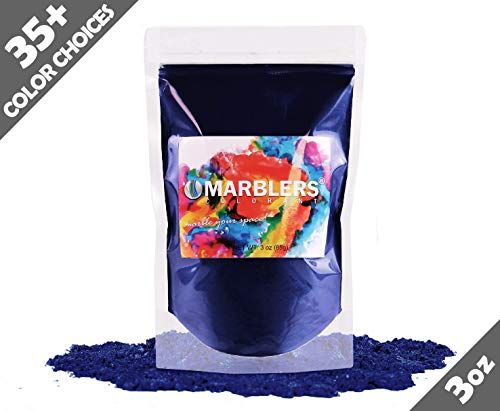Marblers Powder Colorant 3oz (85g) [Fine Navy] | Pearlescent Pigment | Tint | Pure Mica Powder for Resin | Dye | Non-Toxic | Great for Paint, Concrete, Epoxy, Soap, Nail Polish, Cosmetics