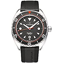 Eterna Super KonTiki Automatic Watch, SW 200-1, Black, Rubber strap