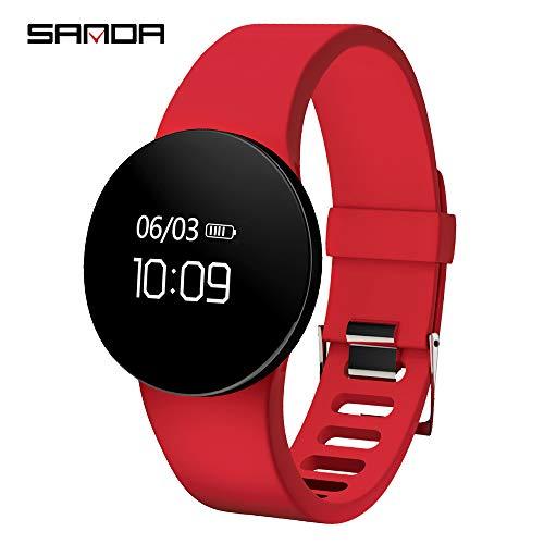Reloj deportivo digital para hombre, elegante reloj deportivo al aire libre, pulsera inteligente monitor de ritmo cardíaco...