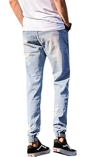 Da Caviglia Uomo Elastici Skinny Blau 1 Ragazzi Moda Jeans 2018 Classiche Alla Pantaloni Strappati Eleganti Cargo Elasticizzati 4PwS0