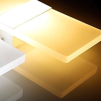 UISEBRT 12W LED Wandlampe Warmwei/ß mit Bewegungssensor Modern LED-Wandleuchten Sensor f/ür Wohnzimmer Schlafzimmer Arbeitszimmer Hotel Flur (Warmwei/ß)