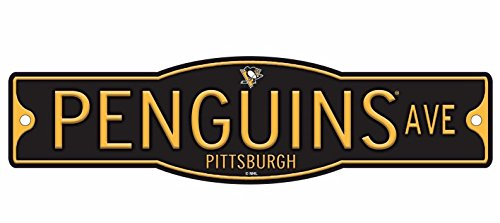 "Pittsburgh Penguins 4"" x 17"" Plastic Street Sign NHL"