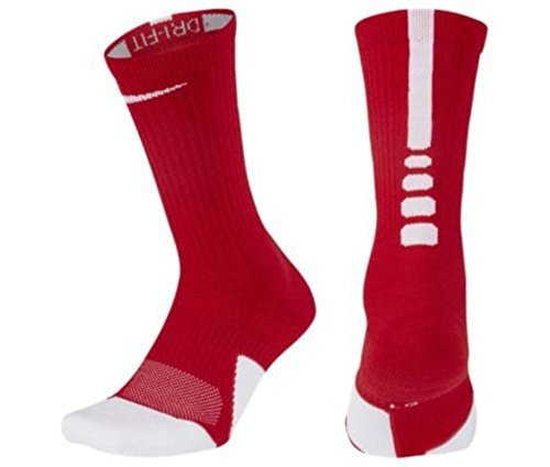 1fd225692 Galleon - Nike Elite Crew 1.5 Team Basketball Socks Large (Men Size 8-12)  Crimson, White SX7035-613