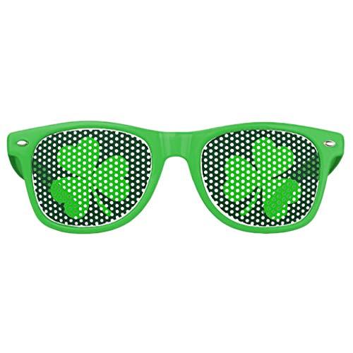 iZHH St. Patrick's Day Green Irish Adult Festival Fashion Green Hat Glasses(Green,Free Size)